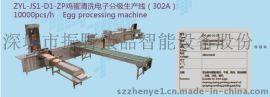 深圳振野304不锈钢鸡蛋清洗电子分级生产线
