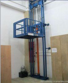 甘肃导轨链条式液压升降机   液压货物提升机设备
