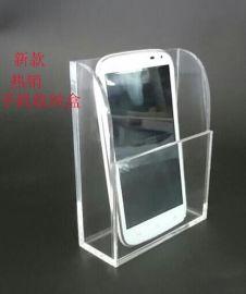 透明亚克力壁挂手机展示盒厂家直销