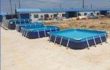 家庭兒童洗澡池鋼管池摸魚池兒童游泳池鋼架結構水池支架水池生產