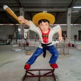 热卖 卡通动物人物形象泡沫雕塑 神笔马良商场电影动漫人物雕塑