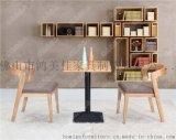 简约时尚实木餐桌椅,两人位实木餐桌椅广东鸿美佳工厂生产供应