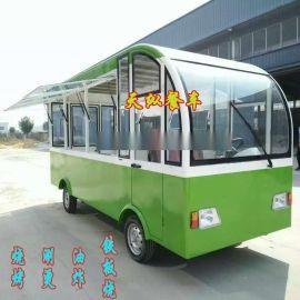 山东天纵不锈钢小吃车奶茶车电动餐车移动售货车