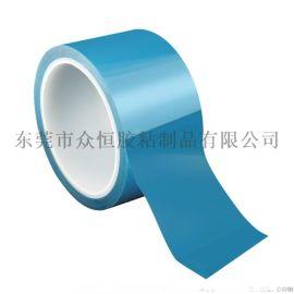 高粘无基材白色导热胶 蓝色离型膜玻璃纤维布耐温散热双面胶带