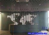 济南冲孔铝板厂家 内墙打孔透光铝板 铝板山水画冲孔