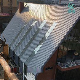 YX25-430型铝镁锰板 直立锁边屋面板 立边咬合系统