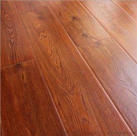 12MM仿古封蜡防水强化复合地板仿实木地板浮雕工厂价实木复合地板