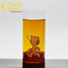 深圳厂家定制直身玻璃水杯厚底玻璃茶水杯礼品杯广告杯