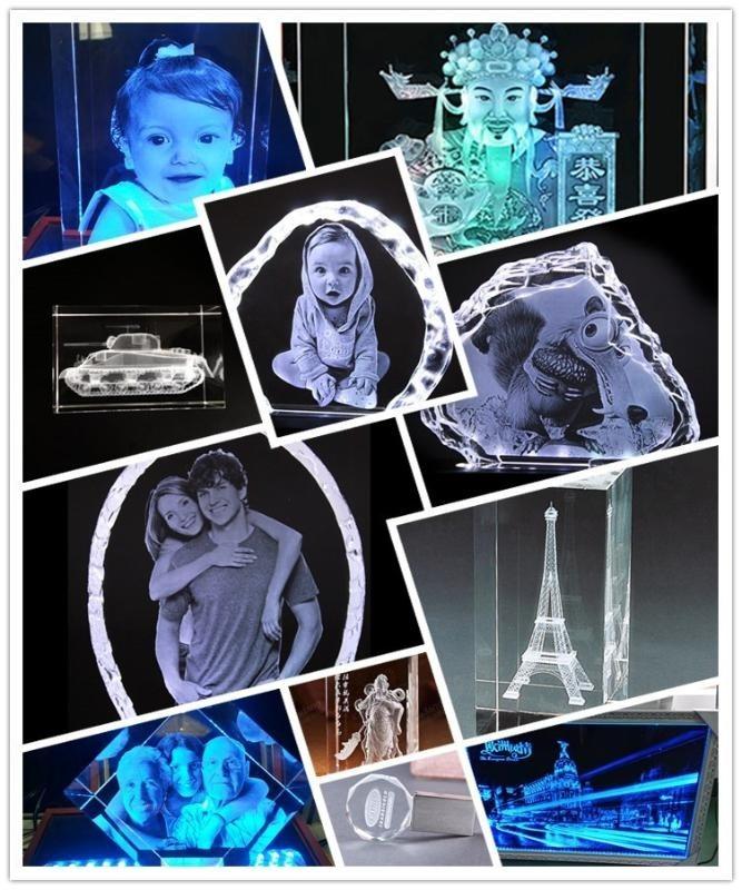 三维水晶人像打印机 三维激光内雕机厂家