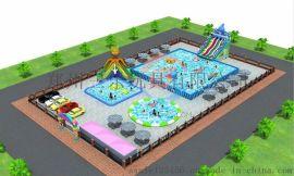 山東青島市支架遊泳池價格,水上滑梯浮具設備