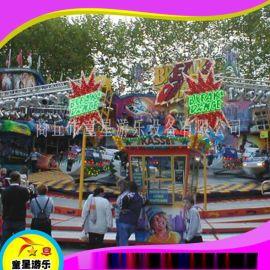 广场游乐设备24人霹雳转盘商丘童星游乐设备厂家