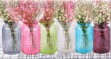 美式鄉村大號透明玻璃花瓶花開富貴竹水培裝飾花器客廳插花擺飾