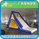 充气水上滑梯充气三角滑梯充气滑梯百万海洋球滑梯水上漂浮物滑梯