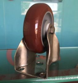 定向轮  4寸不锈钢聚氨酯脚轮