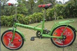 广告折叠自行车