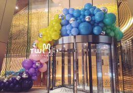 昆明花語花香氣球布場氣球商場活動