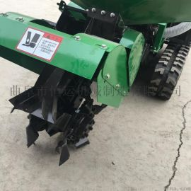 四川履带式开沟培土机 履带式松土施肥回填机
