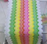 彩虹弹性水波纹波浪纹钩编松紧带 高弹束腰带橡筋