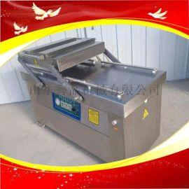 工业用600双室真空包装机连续滚动式真空包装机