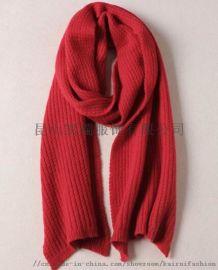 成人中长款罗纹针织棉晴围巾