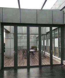 大型电动折叠门 断桥隔热自动折叠 电动折叠墙
