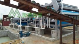 水洗砂泥浆脱水设备 河卵石污泥过滤机 采石泥浆压滤设备