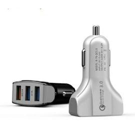 3个USB车充 QC3.0+2USB,PC防火材料