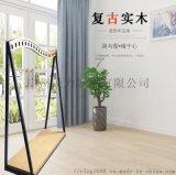 广州服装架子展示架上墙侧挂金属