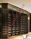 广东佛山欧式玫瑰金恒温恒湿不锈钢酒柜定制