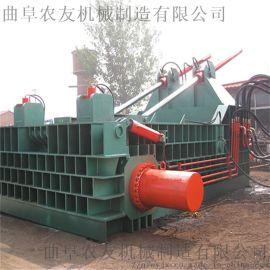 废料半自动液压打包机 金属废铁屑压块机