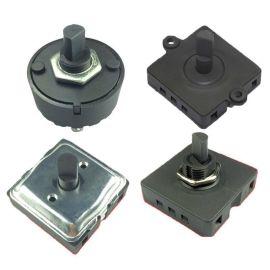 工厂直销GANHAD高品质大电流RV00X系列圆形方形多档位旋转开关