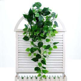 仿真植物壁挂藤条花艺装饰树叶吊篮绿植墙塑料吊兰绿萝仿真花