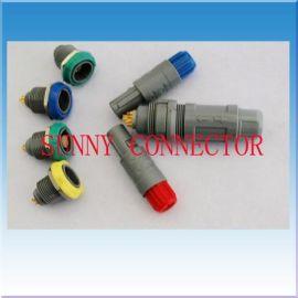 塑胶航空插 雷莫推拉式圆形塑料连接器(1P 2P)