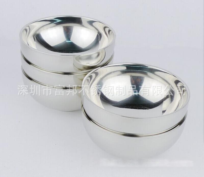 特厚好質量不鏽鋼雙層碗,亮光碗,隔熱碗