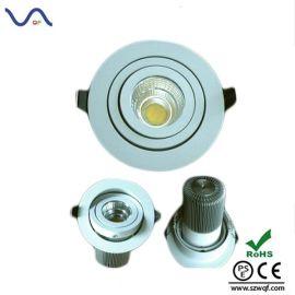 LED COB 筒灯9W,集成面光源筒灯 COB光源9W