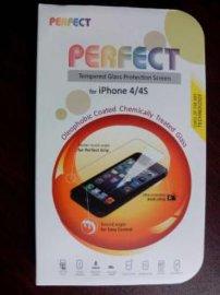 苹果4/4S (iphone4/4s )平面钢化玻璃保护屏