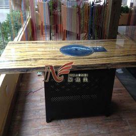 定做火锅桌/木纹纸火锅桌/石纹纸火锅桌/煤气灶火锅桌