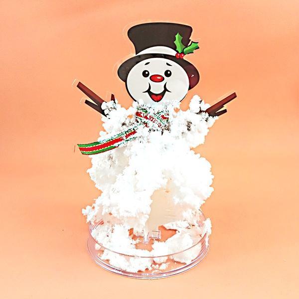 供应**生态玩具,新奇特圣诞节礼品,教育玩具赠品纸树开花雪人