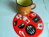 厂家提供食品级硅胶杯垫  环保硅胶锅垫 耐高低温 隔热垫