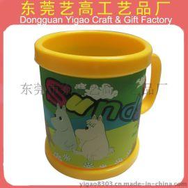 来图定做PVC软胶卡通杯皮马克杯 环保塑料马克杯