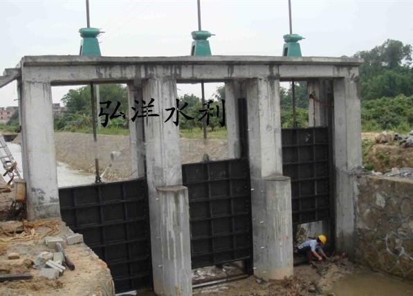 弘洋水利供應機閘一體鋼閘門 鑄鐵鑲銅閘門