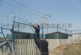 加高防护栅栏 加密防护栅栏 铁路加高防护网 高铁加密防护网