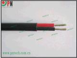 TUV認證 雙芯並行太陽能光伏電纜PV1-F 2X4mm2