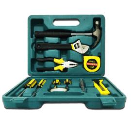 厂家批发懒汉牌九件套家用组合便携式手提维修工具包