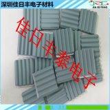 40*40*5MM波纹背胶 碳化硅陶瓷片 环保碳化硅陶瓷散热片
