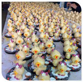 玻璃钢树脂道具 树脂小雕塑 公司馈赠礼品 小鸭雕塑