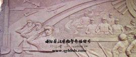 校园人物浮雕 敬礼军人爱国主题定做玻璃钢雕塑厂家