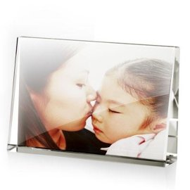 K9水晶桌面水晶相框摆台 可彩印 放置 3d照片