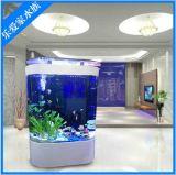 批發新款 生態圓弧魚缸 亞克力包邊水族箱 生態圓柱形水族箱