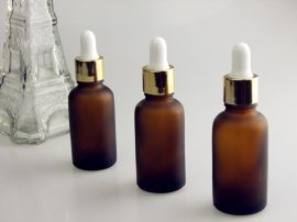 15ML精油瓶 香水瓶 乳液瓶(韩式胶头 电化铝盖 各种内塞)